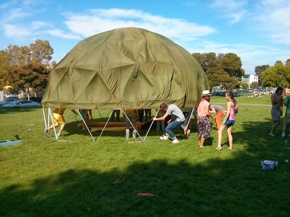 Dome building test in a San Francisco park.