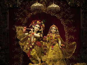 The God Krishna in two forms.