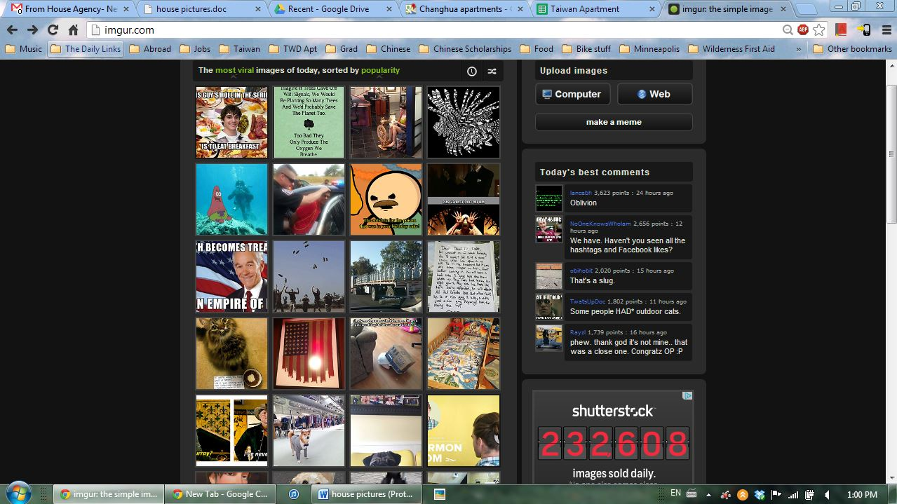 On Sept 1st I was on the homepage of Imgur for the day!