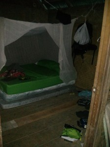My room complete with bug net