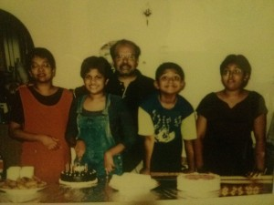 An old family portrait from Ashanya's parents house in Malaysia.