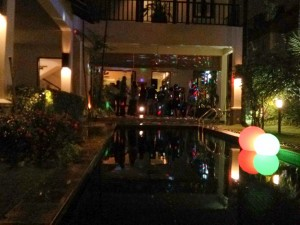 A classy party at a Banker's house in Kuala Lumpur.