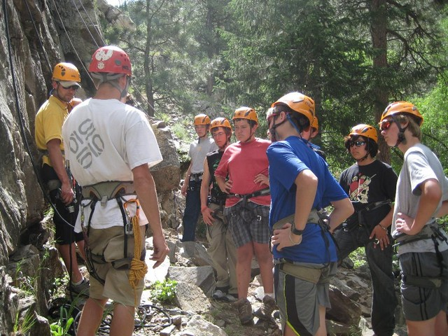 Climbing day with the campers in Rocky Mountain National Park