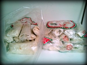 Bags on Homemade Frozen Burritoes