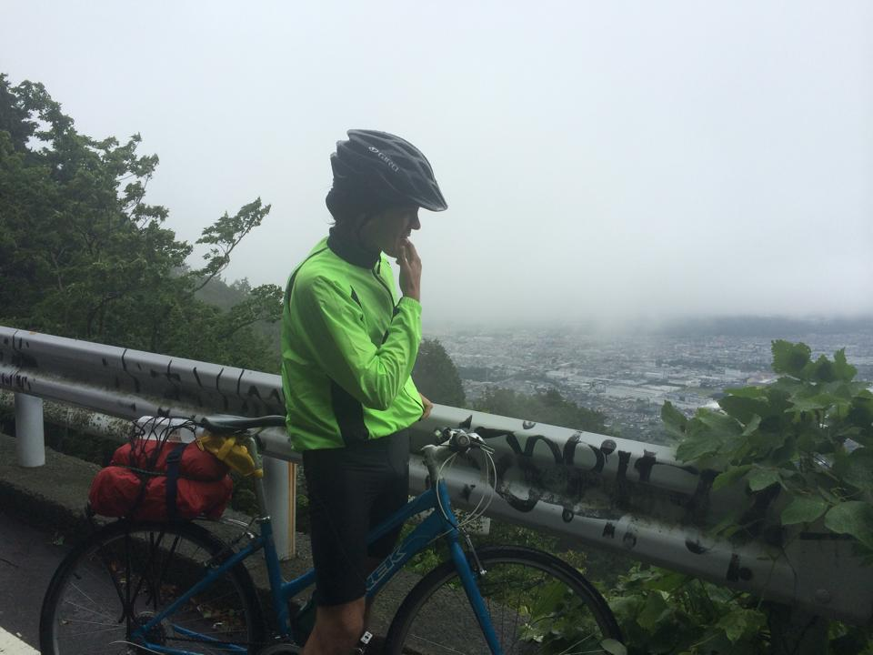 Biking in the mountains in Japan