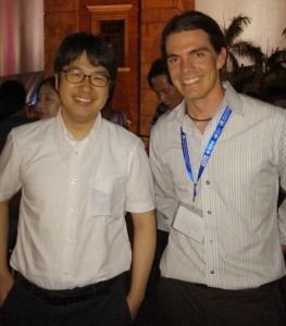 My Japanse boss Okada-sensei and I hanging out in Hong Kong